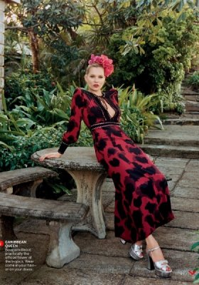 "KATE MOSS W ""ALMOST PARADISE"" DLA MAJOWEGO VOGUE US"