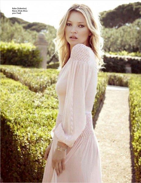 Kate Moss w sesji okładkowej wrześniowego Elle France
