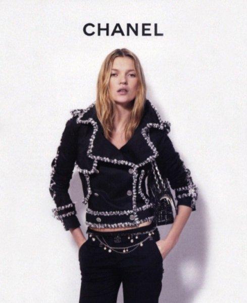 Kate Moss w kampanii Chanel wiosna lato 2004