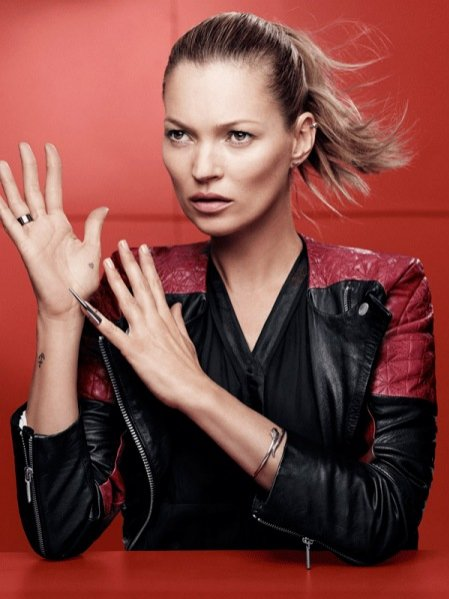 1. Kate Moss w kampanii Eleven Paris - wiosna lato 2014