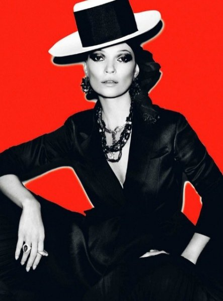 Kate Moss w obiektywie Mario Testino dla Vogue Paris