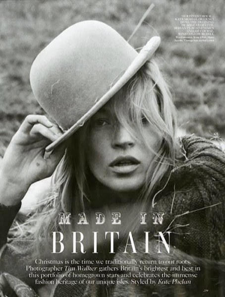 1. Kate Moss w Vogue UK - grudzień 2013