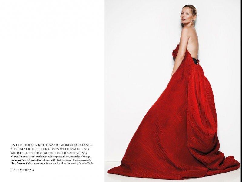 Kate Moss w sesji dla majowego Vogue UK