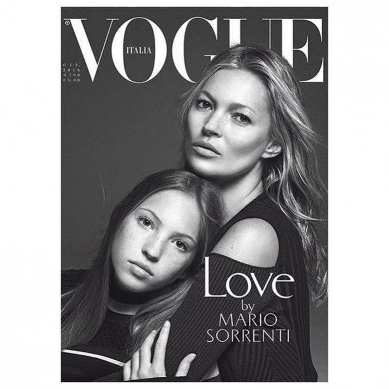Lila i Kate Moss na okładce Vogue Italia