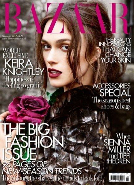 Keira Knightly na okładce Harper's Bazaar