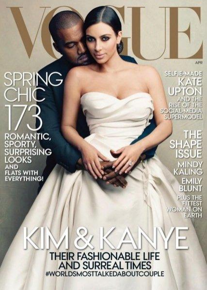 Kim Kardashian i Kanye West na okładce kwietniowego Vogue US
