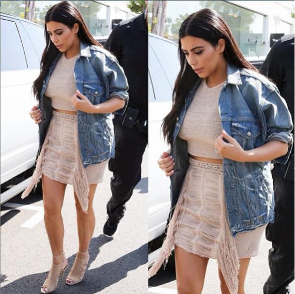 1. Kim Kardashian w total looku Magdy Butrym