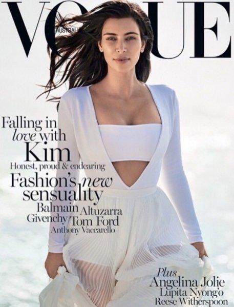 1. Kim Kardashian w Vogue Australia February 2015