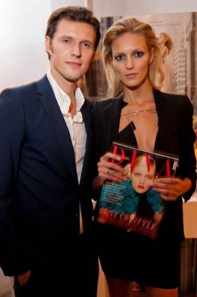 Anja Rubik i Sasha Knezevic na prezentacji nowego numeru Diva Style Bible