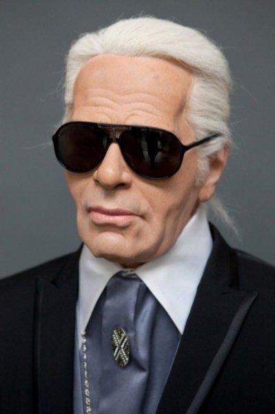 figura woskowa Karla Lagerfelda