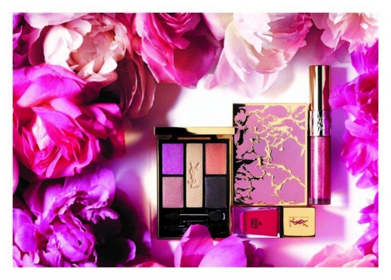 Kolekcja kosmetyków Flower Crush do makijażu od Yves Saint Laurent