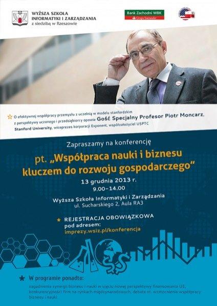 """Konferencja pt. """"Współpraca nauki i biznesu kluczem do rozwoju gospodarczego"""""""