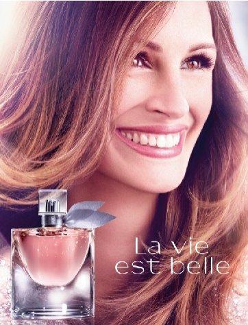 Julia Roberts jako ambasadorka najnowszego zapachu Lancôme - La vie est bell