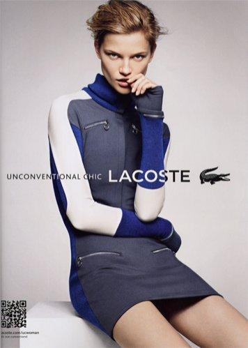 Kasia Struss w kampanii Lacoste na sezon jesień zima 2012/13
