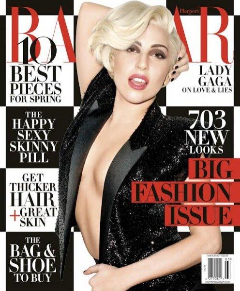 1. Lady Gaga w Harper's Bazaar US, marzec 2014