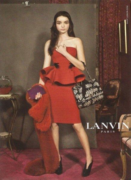kampania Lanvin na jesień zimę 2012