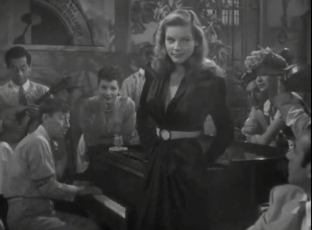 "1. Lauren Bacall w filmie ""Wielki sen"