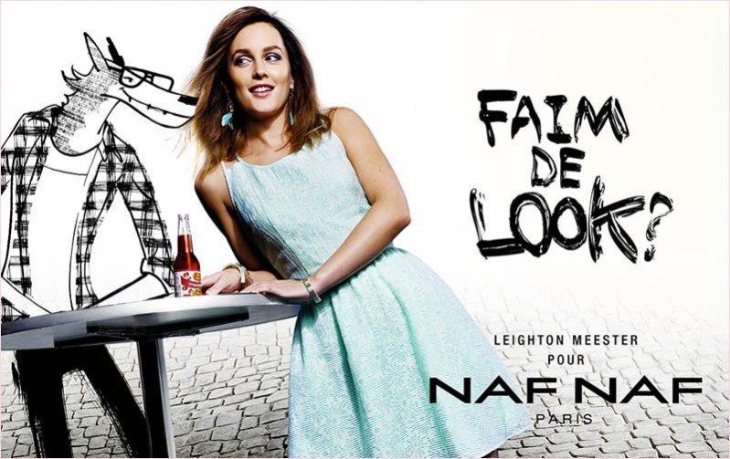 1. Leighton Meester w kampanii Naf Naf - wiosna lato 2014