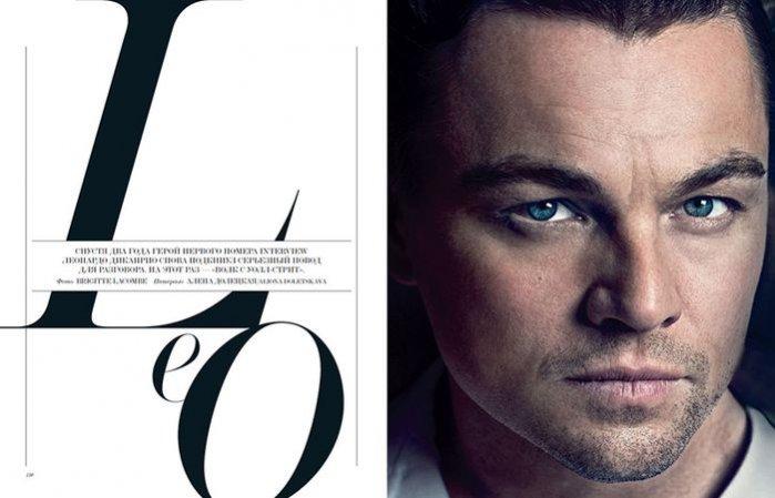 1. Leonardo DiCaprio w Interview Russia, marzec 2014