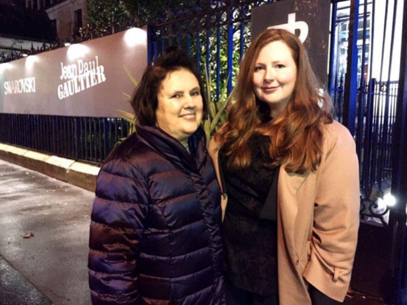 1. Suzy Menkes z Lindsay Walsh, studentką BFA Fashion Design w Parsons Paris