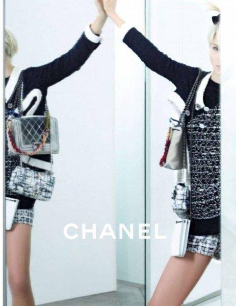 1. Sasha Luss w kampanii Chanel wiosna lato 2014