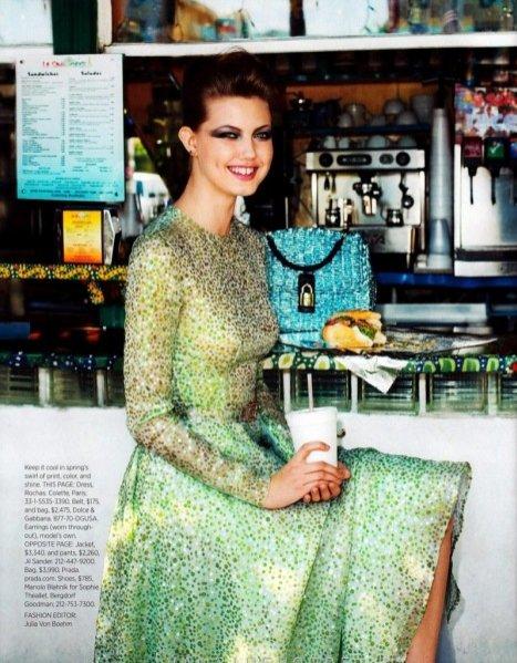 Linsey Wixson w obiektywie Terry'ego Richardsona Harper's Bazaar Marzec 2012