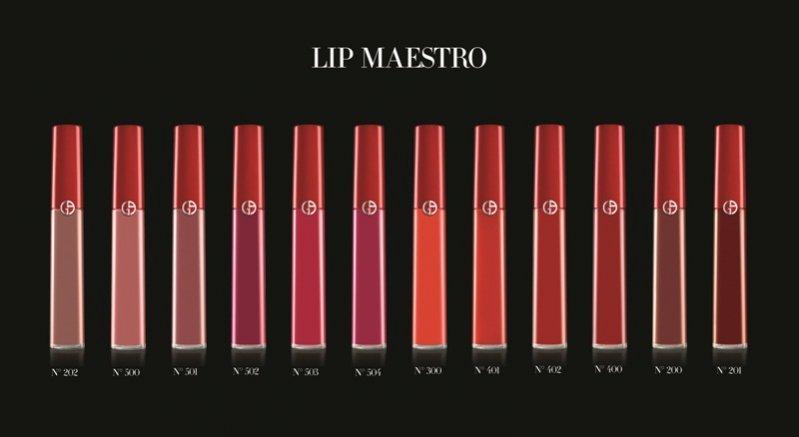Lip Maestro Giorgio Armani 12 odcieni