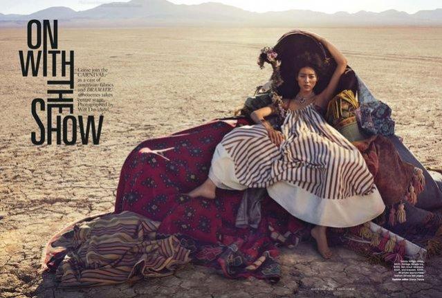 Liu Wen w sesji dla marcowego Vogue Australia