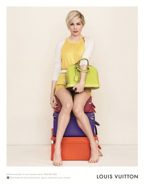 1. MICHELLE WILLIAMS W WIOSENNEJ KAMPANII LOUIS VUITTON