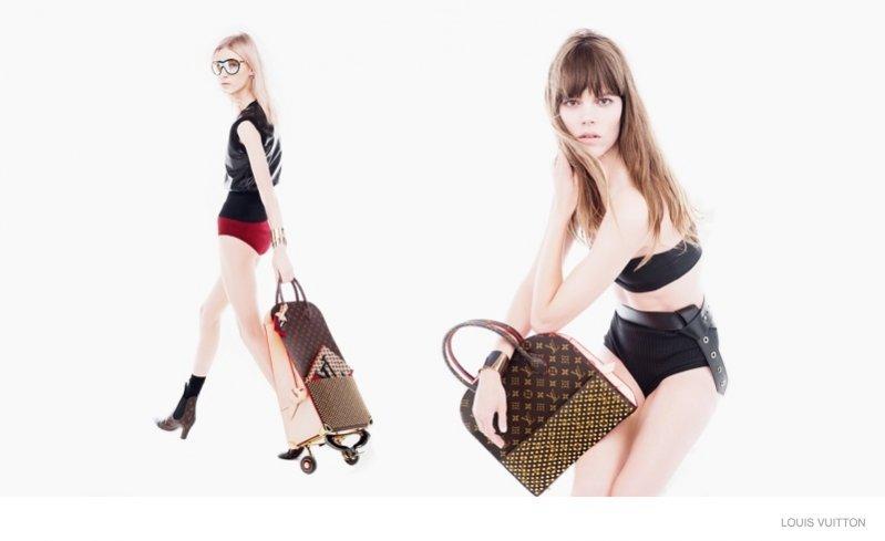 1. Freja Beha Erichsen i Julia Nobis z projektami Christiana Louboutina dla Louis Vuitton