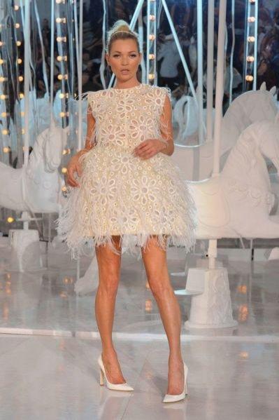 Kate Moss na pokazie Louis Vuitton wiosna lato 2012
