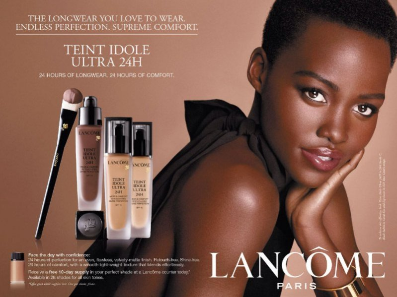 Lupita Nyong'o w kampanii marki Lancôme