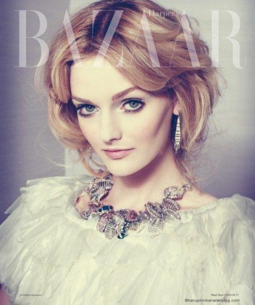 Lydia Hearst w Harper's Bazaar en Español Maj 2012
