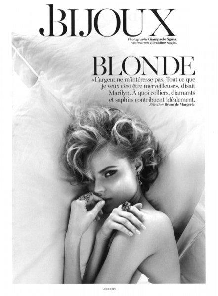 Magdalena Frąckowiak w biżuteryjnej sesji dla Vogue Paris maj 2013