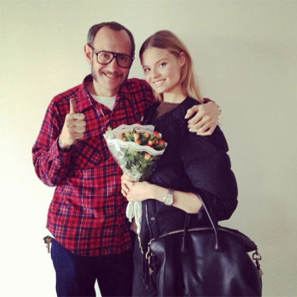 Magdalena Frąckowiak i Terry Richardson backstage