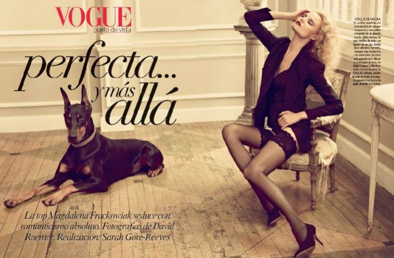 Magdalena Frąckowiak w Vogue Mexico