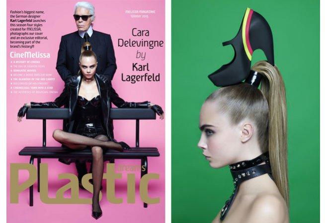 Karl Lagerfeld i Cara Delevingne dla Melissa