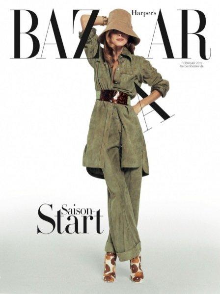 1. Małgosia Bela w lutowym Harper's Bazaar Germany