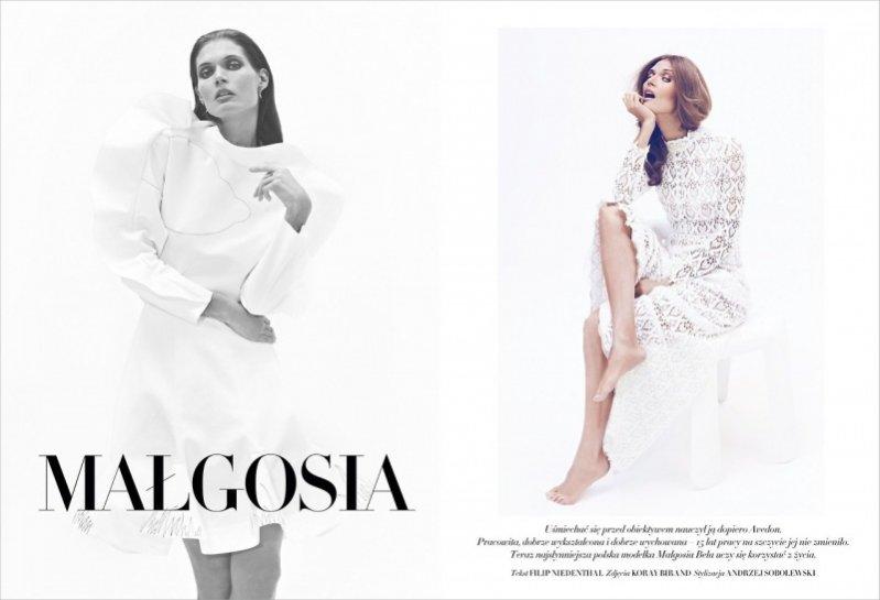 Małgosia Bela w sesji okładkowej dla Harper's Bazaar Polska
