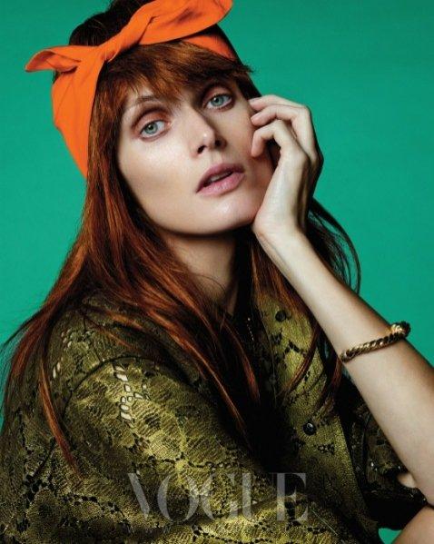 Małgosia Bela w sesji dla lutowego wydania Vogue Korea