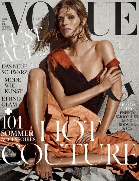 1. Małgosia Bela w majowym numerze Vogue Germany