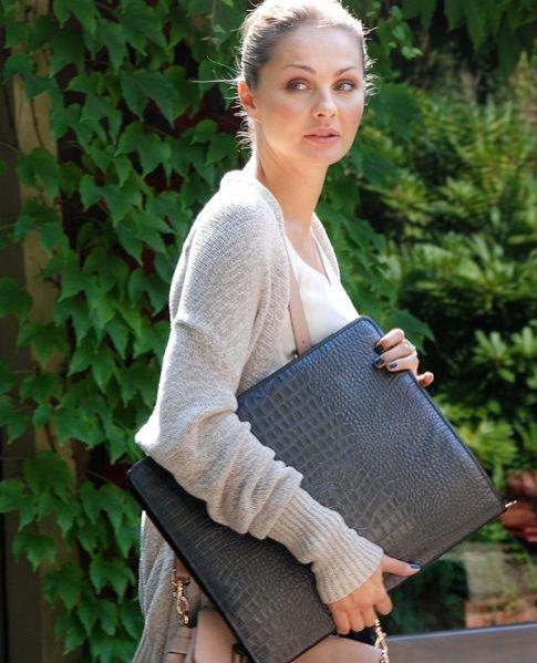 Małgosia Socha i jej stylowe etui na laptop projektu Mariusza Przybylskiego