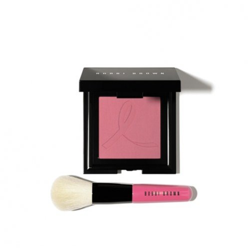 Zestaw marki Bobbi Brown French Pink Set - Róż Embossed French Pink Blush i pędzel Mini Face Blender Brush, cena: 232 zł