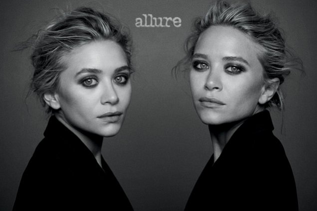 Mary Kate i Ashley Olsen dla grudniowego wydania Allure Magazine 2013