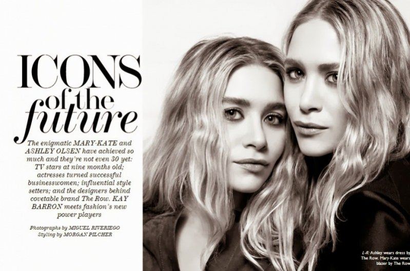 Mary-Kate i Ashley Olsen The Edit październik 2013