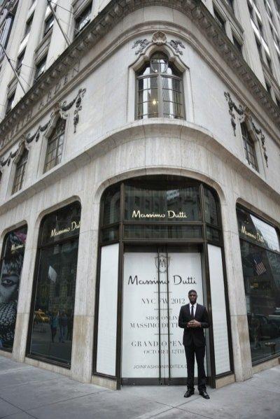 Wnętrze sklepu Massimo Dutti w Stanach