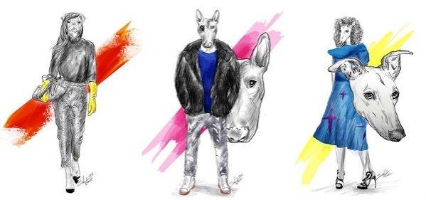 cykl ilustracji Polish Dogs Of Fashion - Paprocki&Brzozowski, Mariusz Przybylski, Gosia Baczyńska