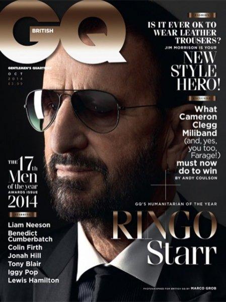 1. Ringo Star na okładce październikowego numeru GQ UK