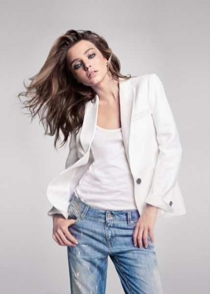 Miranda Kerr w lookbooku Mango lato 2013