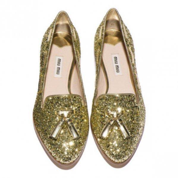 Miu Miu Glitter Loafer